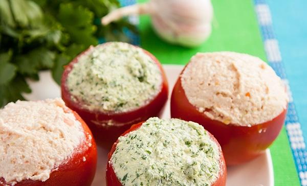 Помидоры с сырной начинкой - фото шаг 7