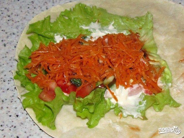 Рецепты начинок для лаваша с корейской морковью
