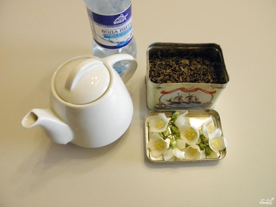 Зеленый чай с жасмином - фото шаг 1