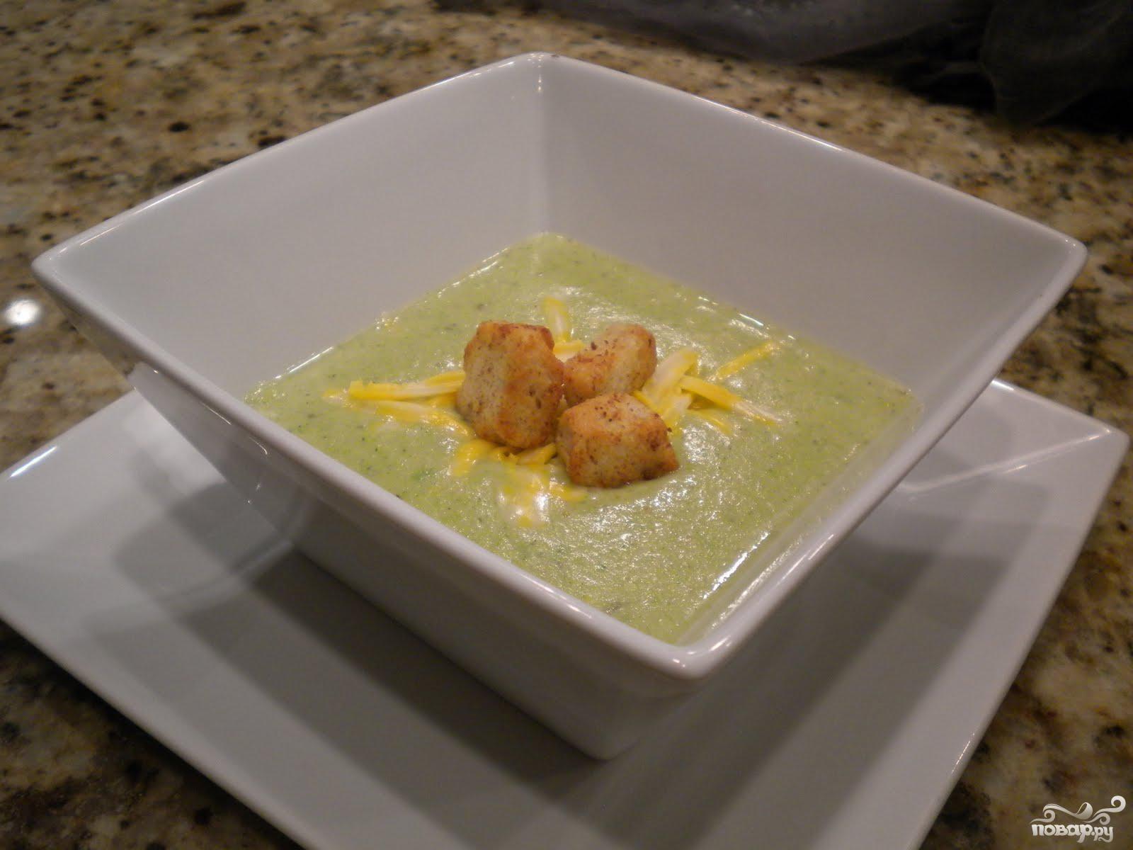Суп с брокколи и сыром по-быстрому