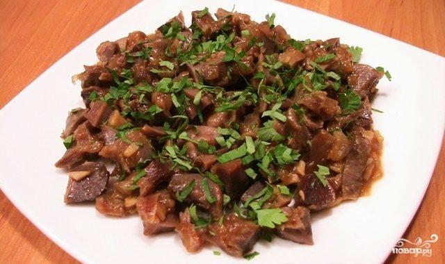 рецепт приготовления куриных желудков на сковороде