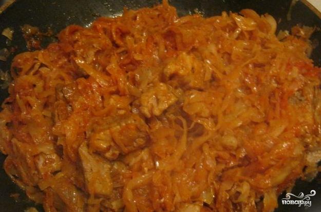 Тушеная кислая капуста с мясом - фото шаг 3