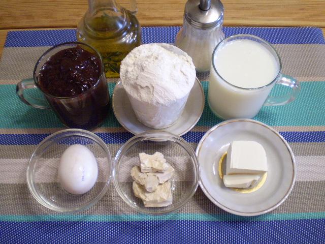 Рецепт Булочки с вареньем
