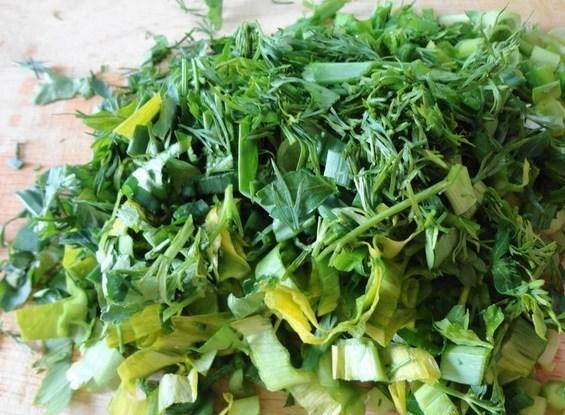 Оладьи с зеленью - фото шаг 3