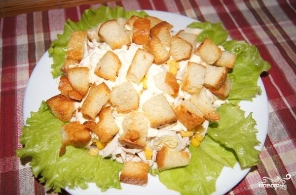 Салат с сыром моцарелла и курицей рецепт