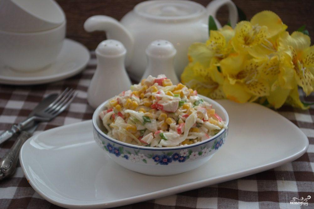 Салат из крабовых палочек без риса