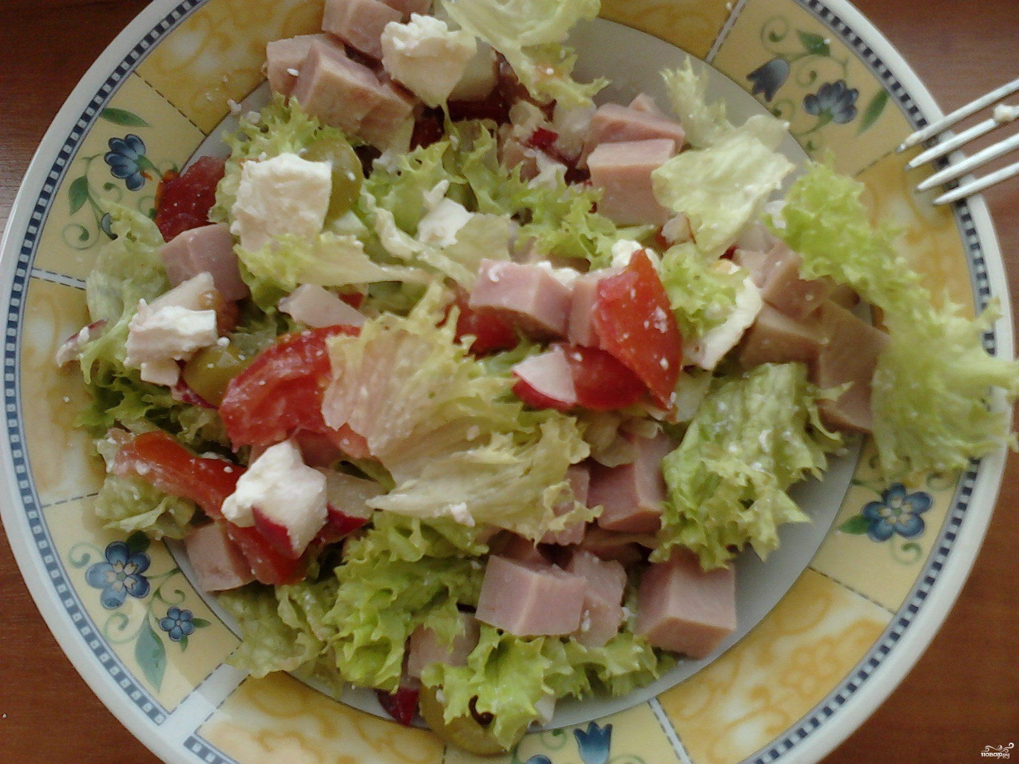 Рецепт Крабовый салат с ветчиной