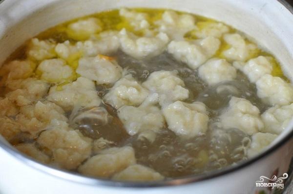 Суп куриный с клецками - фото шаг 5