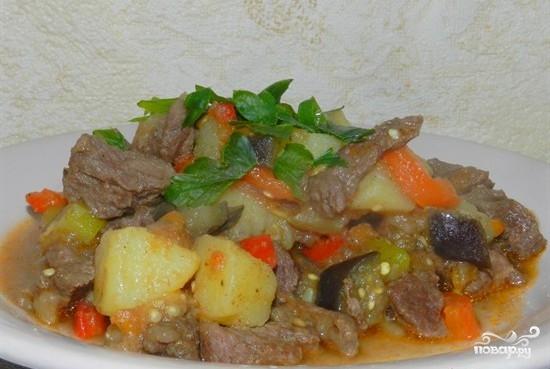 Рагу в мультиварке с мясом