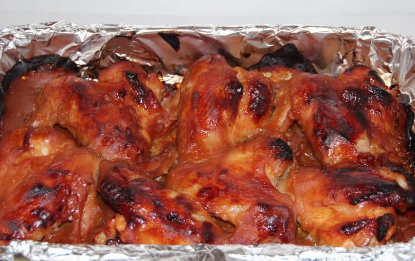 Куриные крылышки под соусом - фото шаг 5
