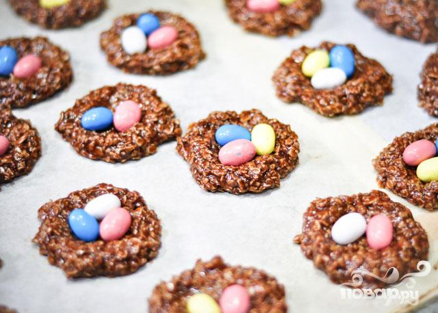 """Шоколадное печенье """"Гнезда"""""""