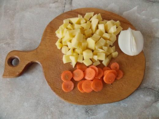 Овощное рагу с шампиньонами - фото шаг 1
