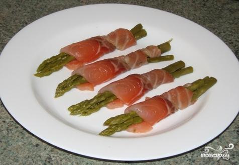 Рецепт Семга со спаржей