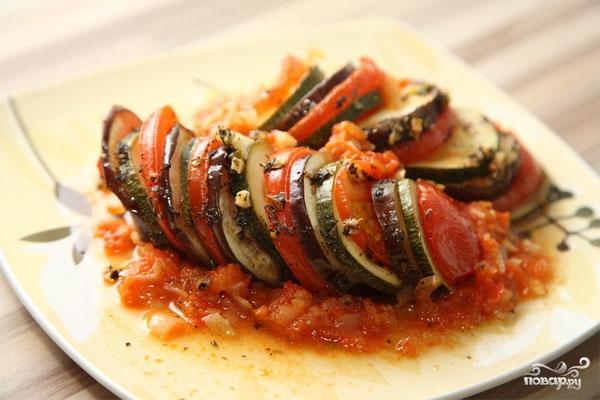 Рецепт Баклажаны с кабачками и помидорами