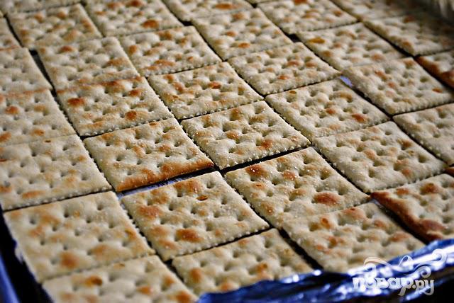 Крекеры с шоколадом и карамелью - фото шаг 1
