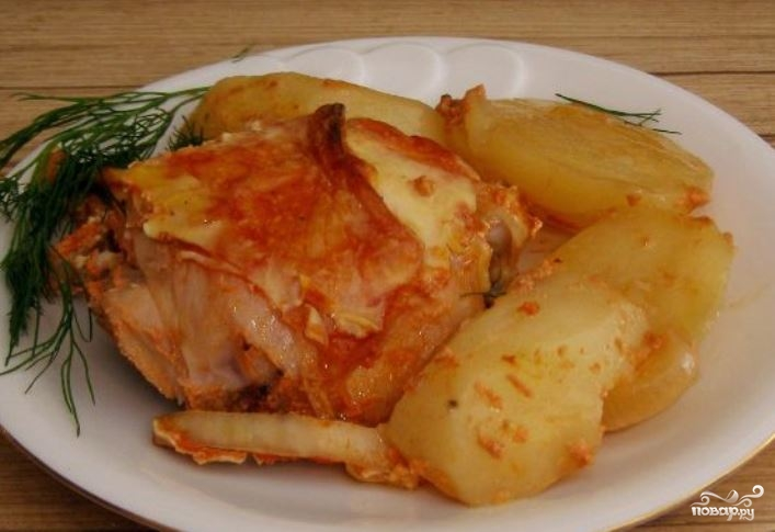 Курица с имбирем в духовке