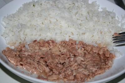Рецепт Салат с печенью трески и рисом