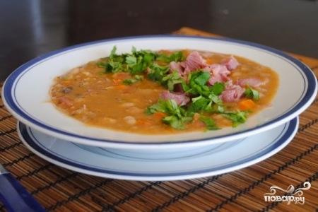 рецепты чечевичного супа с копченостями