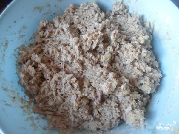 Котлеты из консервированной сайры - фото шаг 4