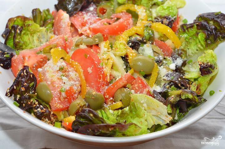 Салат с лимонной заправкой - фото шаг 7