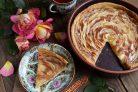 Карамельный яблочный пирог Роза