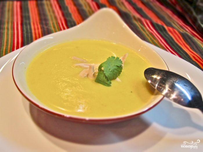 Сливочный суп-пюре с курицей