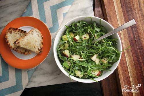 Салат из руколы и авокадо - фото шаг 4