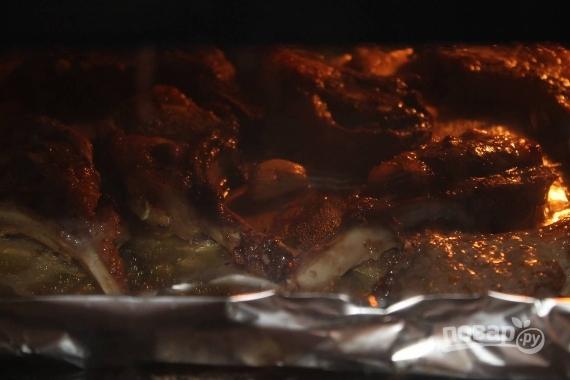Ребрышки в духовке в рукаве пошаговый рецепт
