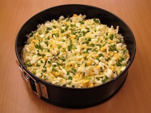 Пирог с луком и сыром - фото шаг 10