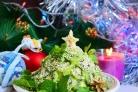 Фруктовый салат Новогодняя ёлка