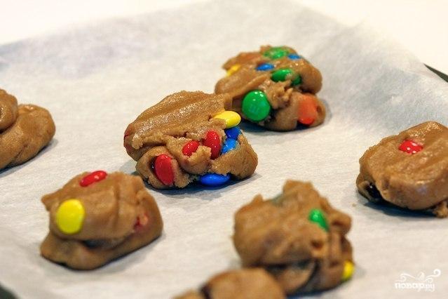 Печенье с конфетами MM's - фото шаг 7