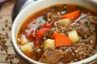 Суп гречневый с языком