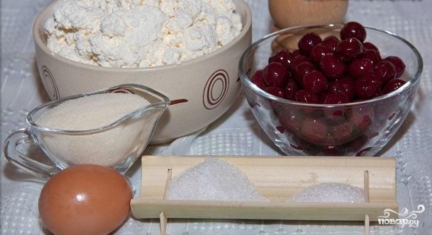 Рецепт Творожная запеканка с вишней