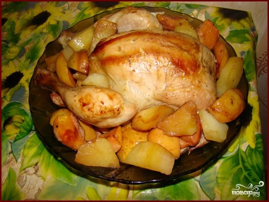 Курица с айвой