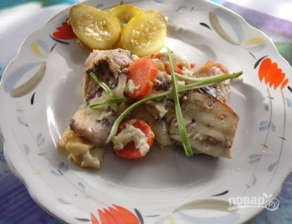 рецепт рыбы в духовке в сметанном соусе фото