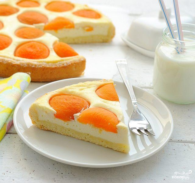 Рецепт Заливной пирог с абрикосами