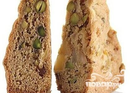 Рецепт Печенье с грушами, фисташками и имбирем