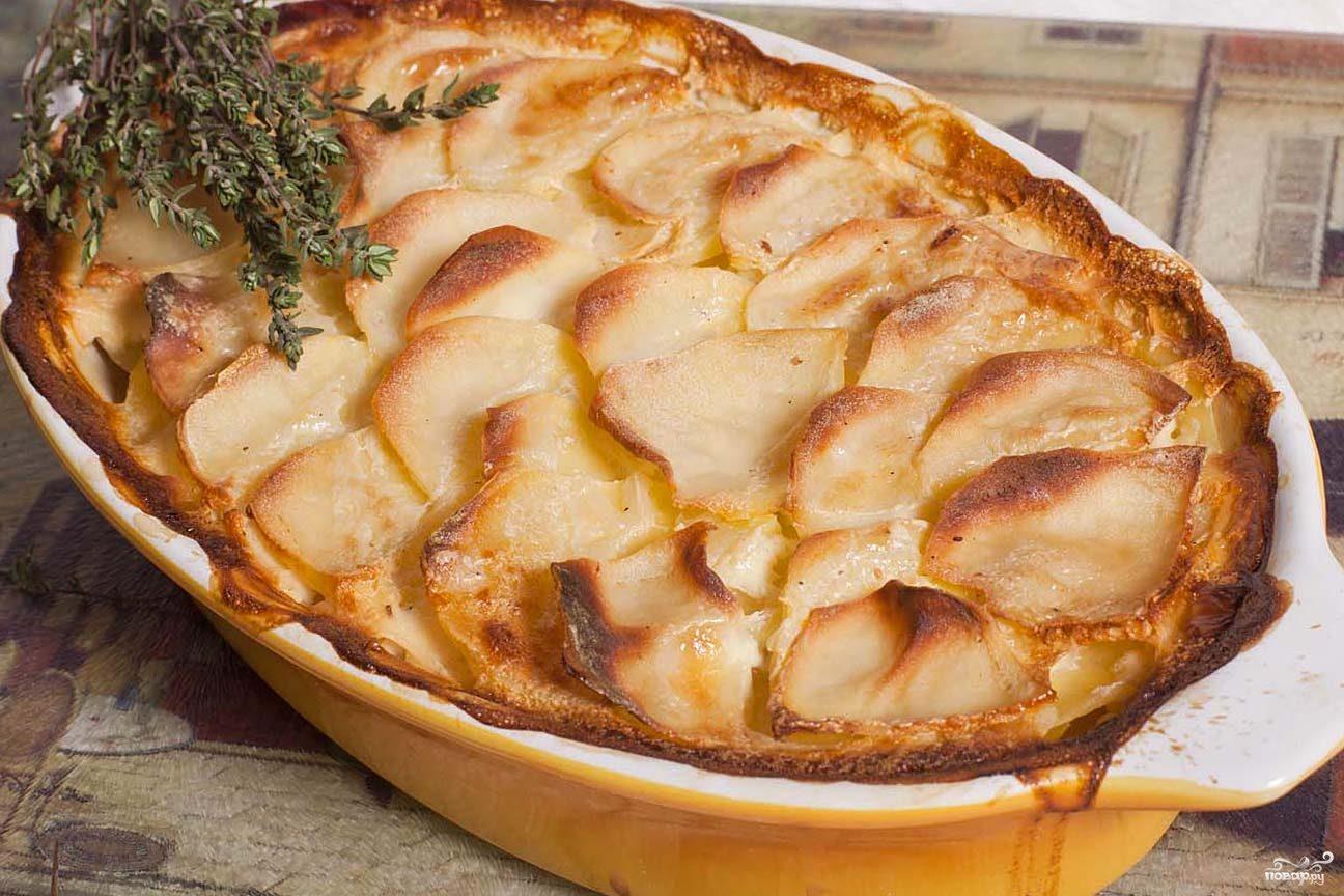 Рецепт Гратен из картофеля с фаршем
