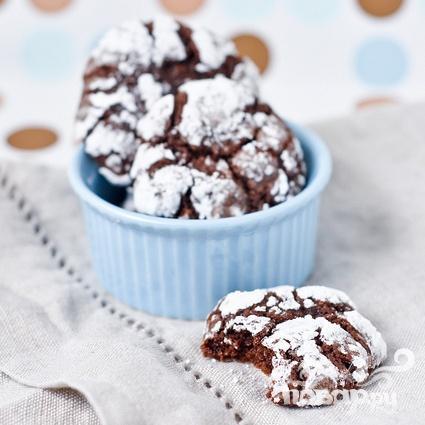 Шоколадное печенье с кофейной начинкой - фото шаг 4