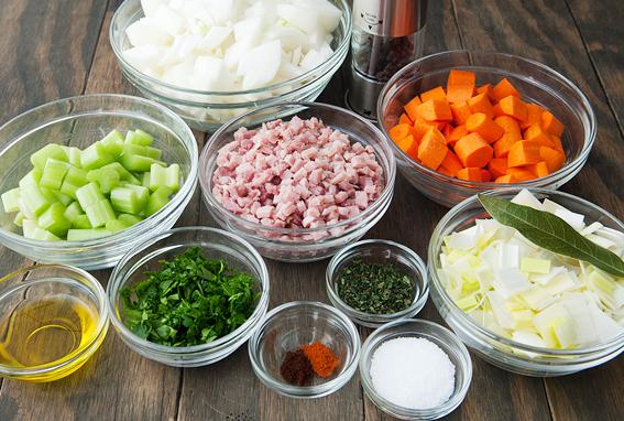 Гороховый суп-пюре с сухариками - фото шаг 3