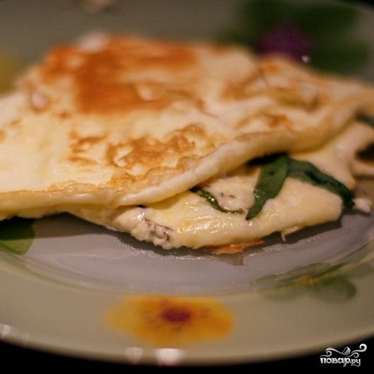 Омлет с голубым сыром - фото шаг 6