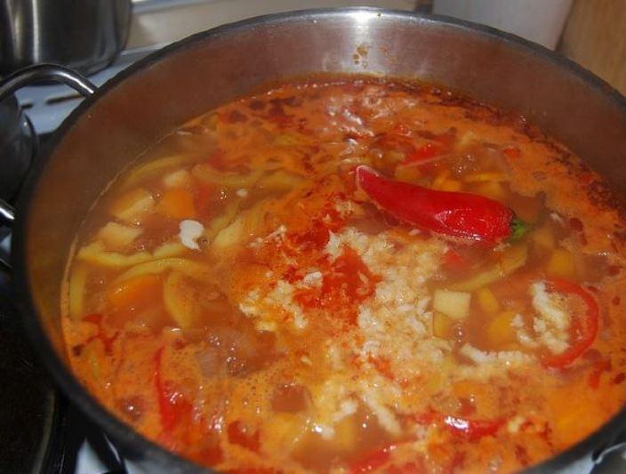 Кавказский суп из баранины   - фото шаг 14