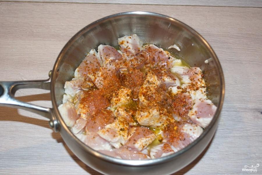 Куриное филе в грибном соусе - фото шаг 3