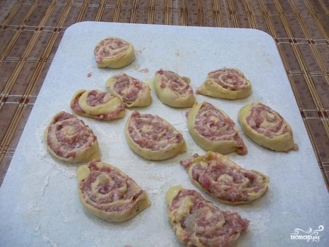 Творожное тесто с фаршем - фото шаг 9
