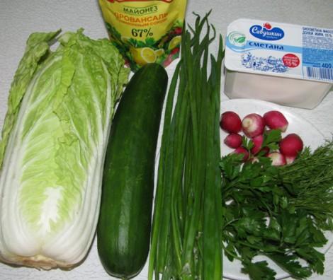 Рецепт Вегетарианский салат из пекинской капусты
