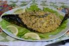 Скумбрия фаршированная желтым рисом