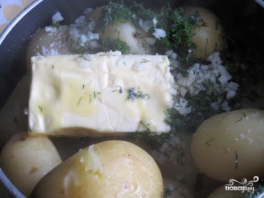 Вареная картошка с укропом и маслом рецепт пошаговый