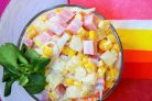 Крабовый салат с ананасом
