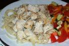 Куриное филе в кефире на сковороде