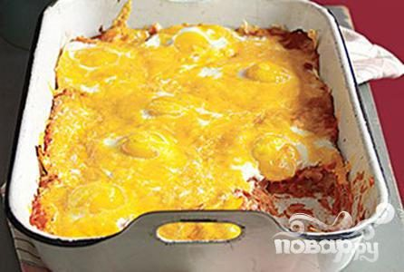 Рецепт Запеченные лепешки с яйцами и томатным соусом